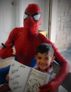 Birthday-Boy-with-Spiderman