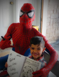Birthday-Boy-with-Spiderman
